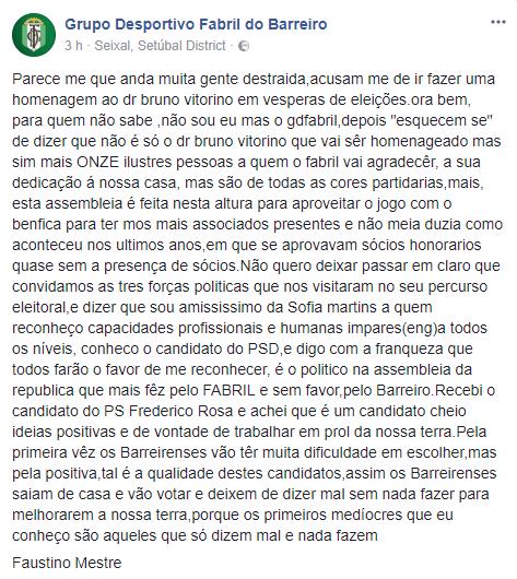Um Comunicado que assassinou a língua portuguesa e que envergonha os sócios do GDF