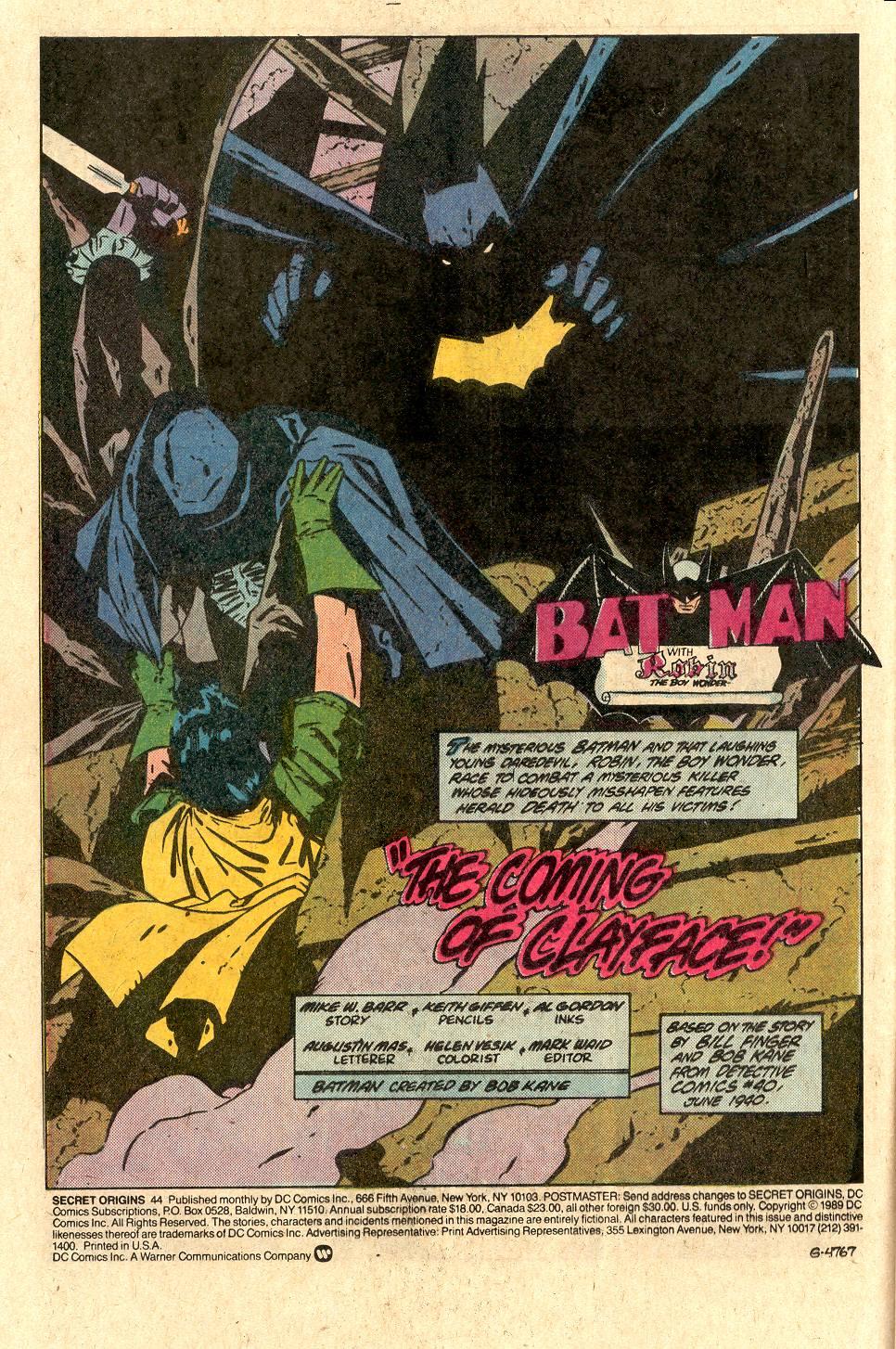 Read online Secret Origins (1986) comic -  Issue #44 - 3