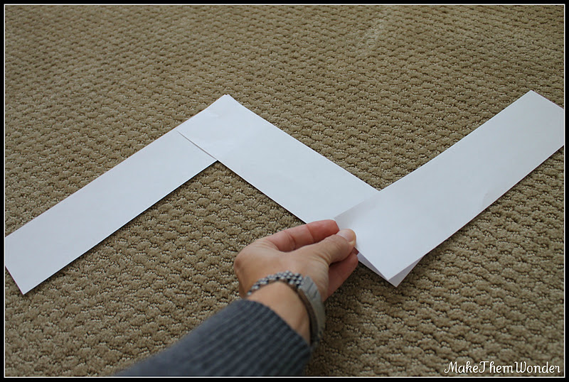 how to make a chevron template - make them wonder how to make a chevron pattern