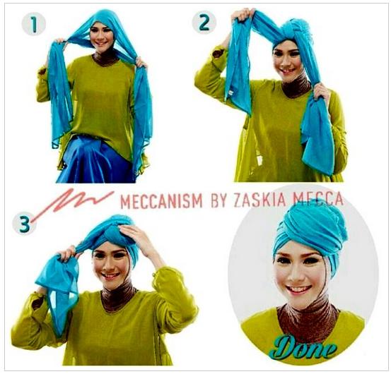 Foto Cara Pakai Hijab Modern Fashion 2016