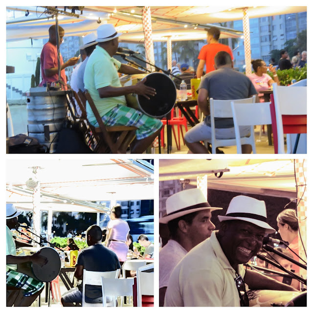 Collage of Brazilian Musicians playing at Nativo on Copacabana Beach in Rio de Janeiro