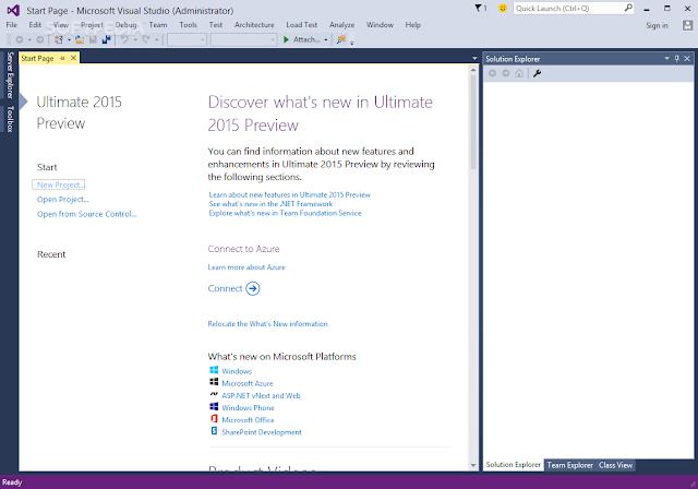 تحميل برنامج فيجوال ستوديو 2013 للكمبيوتر Microsoft Visual Studio Ultimate 2013 12.0