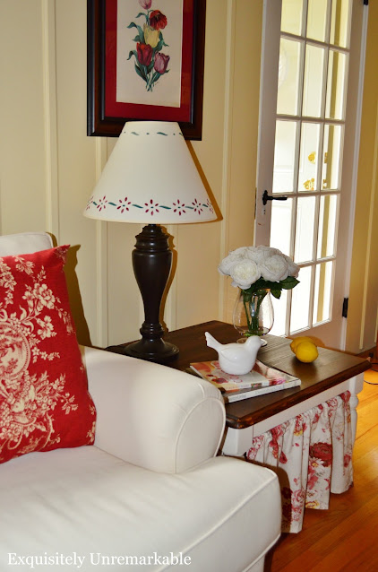 Cottage Style Skirted Table