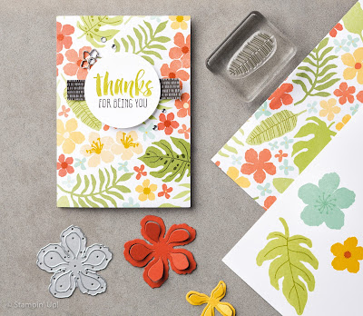 Botanical Blooms stamp set and Botanical Gardens DSP - Simply Stamping with Narelle - available here - http://www3.stampinup.com/ECWeb/default.aspx?dbwsdemoid=4008228