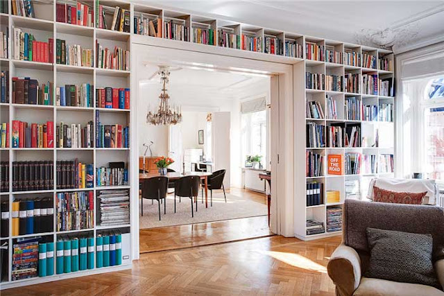 Floor To Ceiling Bookshelves Plans: Ms. Lazybones & The Morning Man: Wishful Wednesdays {floor