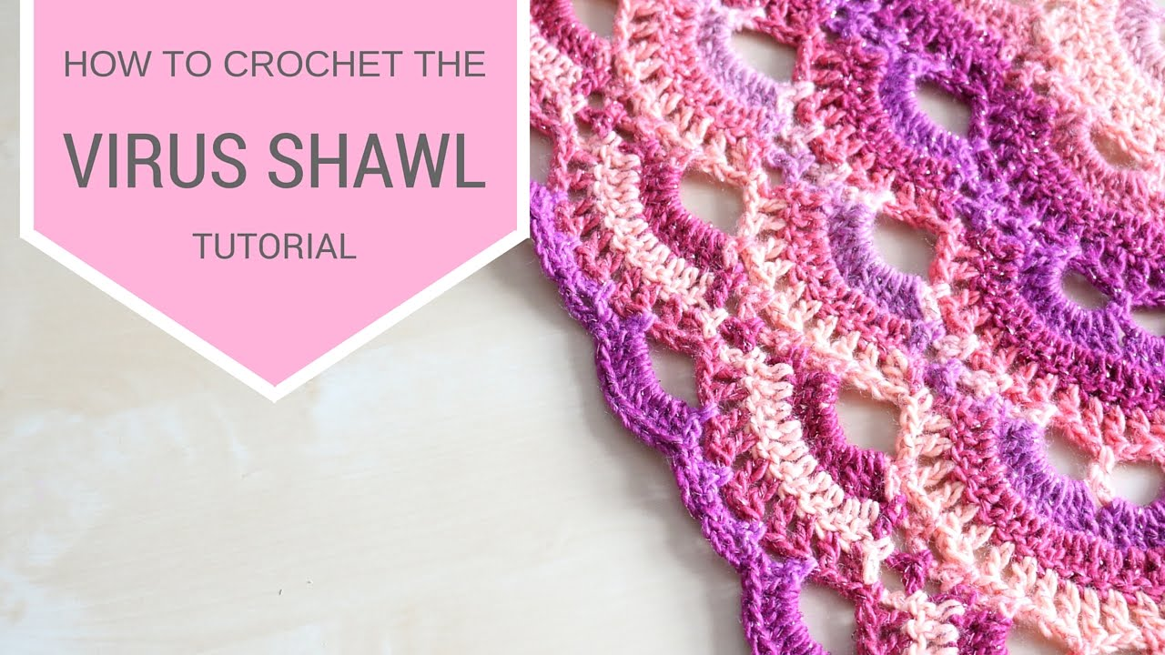 Crochet Pattern For The Virus Shawl : CK Crafts: Crochet Point Virus