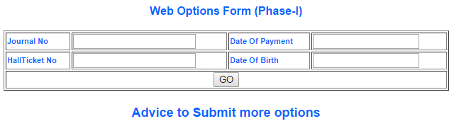 AP Deecet Web Options form 2016 dates AP Dietcet Online Payment