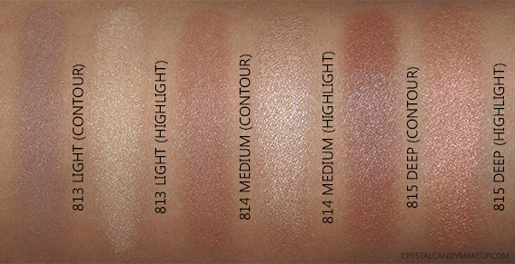 L'Oréal Paris Infallible Pro-Contour Highlight Palettes 813 Light 814 Medium 815 Deep Photos Swatches