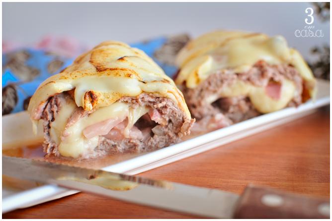 rocambole carne moída bacon queijo