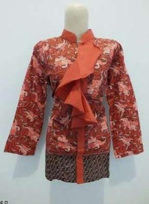 pakaian kerja motif batik mewah