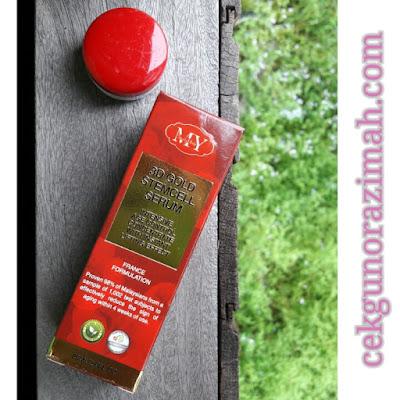 3d gold stemcell serum, beauty herbs produk, testimoni 3d gold stemcell serum, kecutkan jerawat