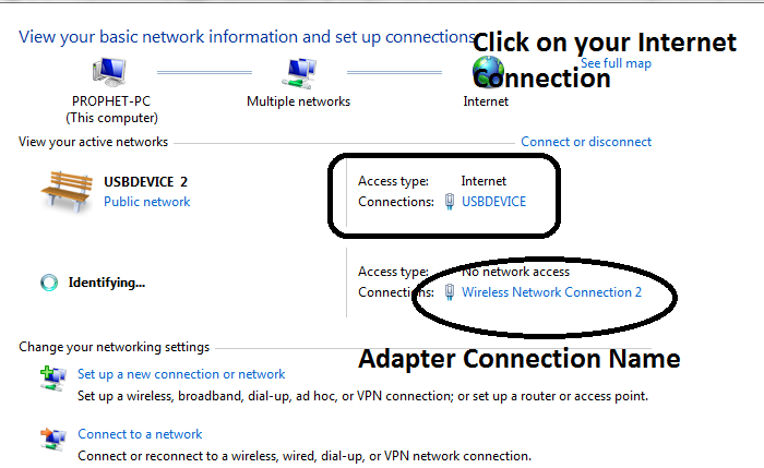 create hotspot in windows 8 and 7
