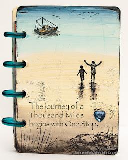 Layers of ink - Nautical Mini Album DIY by Anna-Karin Evaldsson