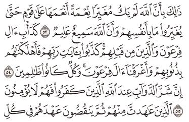Tafsir Surat Al-Anfal Ayat 51, 52, 53, 54, 55