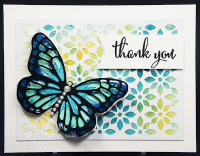 Heart's Delight Cards, Watercolor Wings, Love What You Do, Thank You, Stampin' Up!