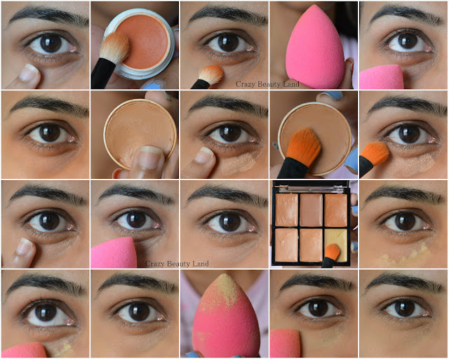 Step By Step Tutorial For Color Correcting Concealing Highlighting Dark Circles in India