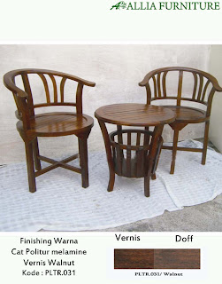 Contoh Furniture Politure Walnut