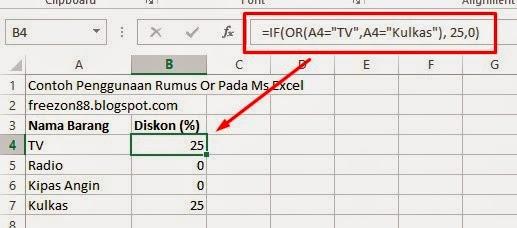 Rumus OR dalam rumus Perbandingan Ms Excel