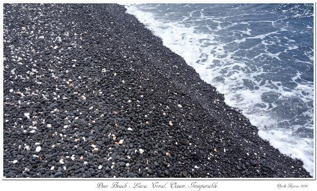 Pueo Beach: Lava. Coral. Ocean. Inseparable.