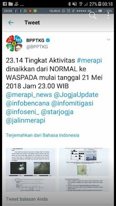 BPPTKG: Status Merapi Dinaikkan dari Normal ke Waspada 21 Mei 2018 Jam 23.14 WIB