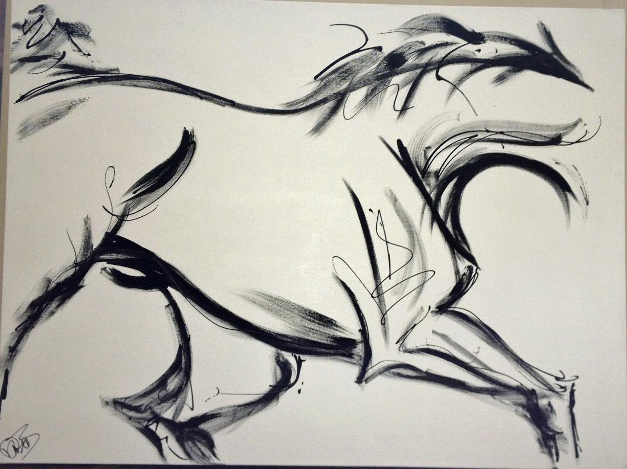 Equine modern art updates for the artist donna b