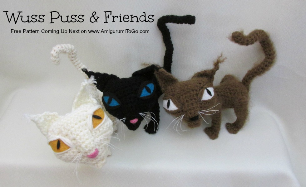 3 crochet alley cats