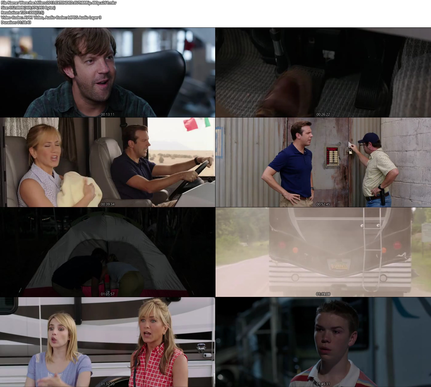 Were the Millers 2013 EXTENDED CUT BRRip 480p 300MB x264 Screenshot