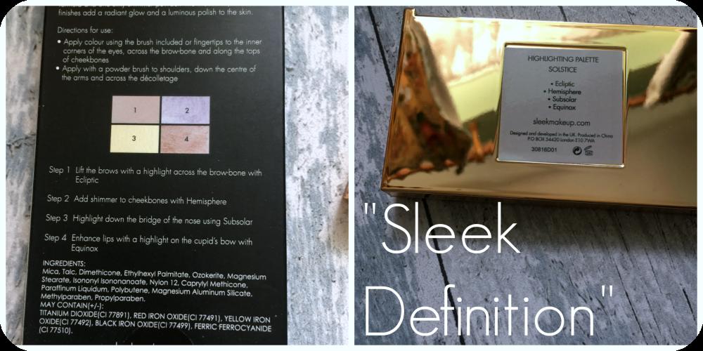 sleek highlighting palette guide