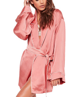 Missguided satin robe