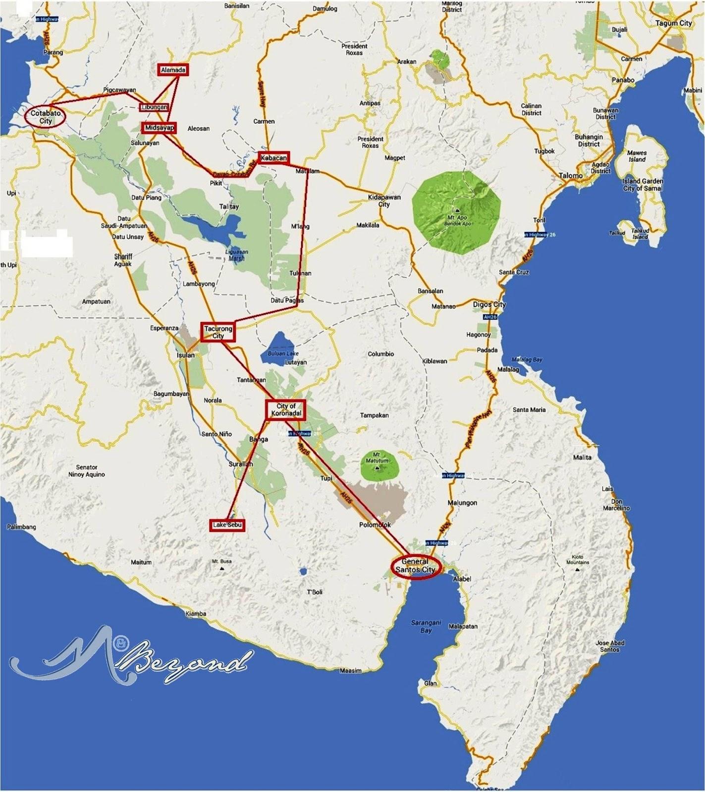 General Santos Map Mindanao