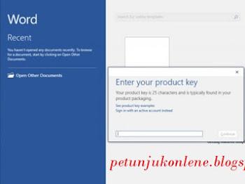 Cara Aktivasi Microsoft Office Terbaru Setelah Membeli Product Key