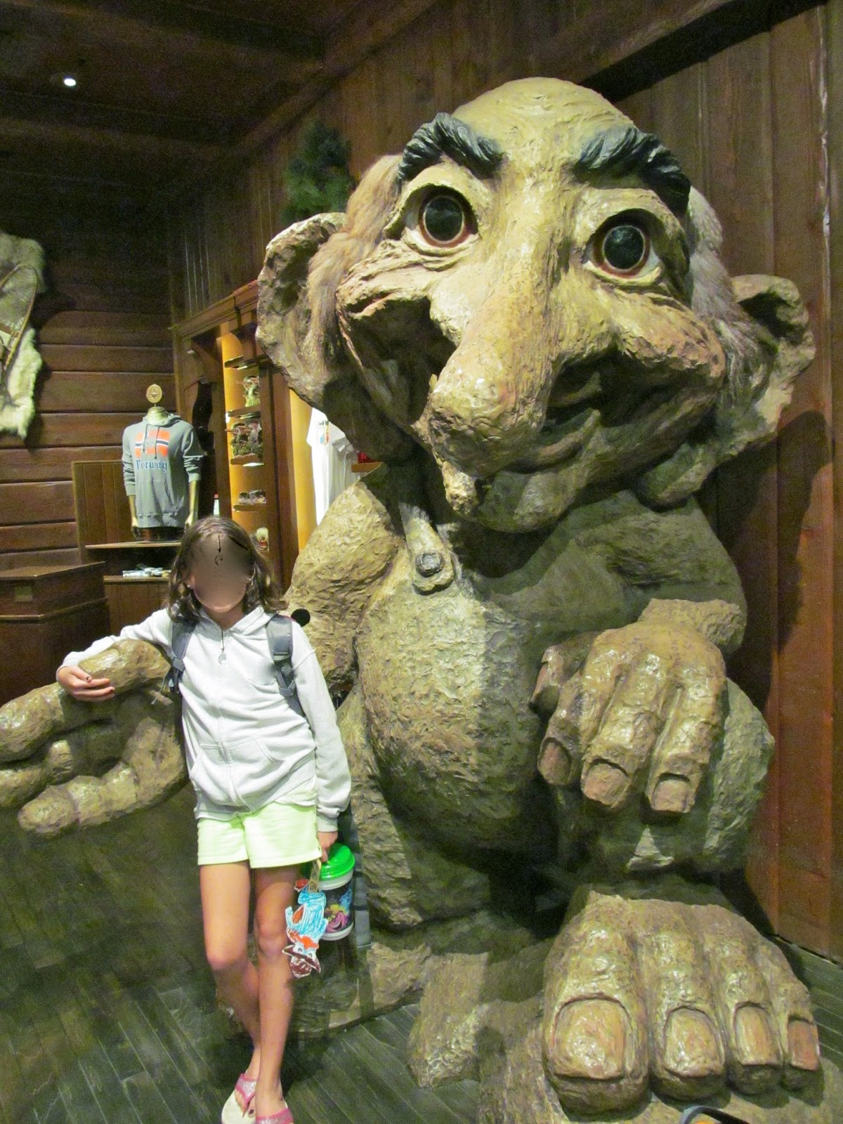 The Giant Troll in Norway -Epcot at the Walt Disney World Resort - Orlando, FL - Ouroutdoortravels.blogspot.com