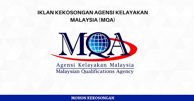 JAWATAN KOSONG TERKINI DI AGENSI KELAYAKAN MALAYSIA (MQA) - KELAYAKAN SPM