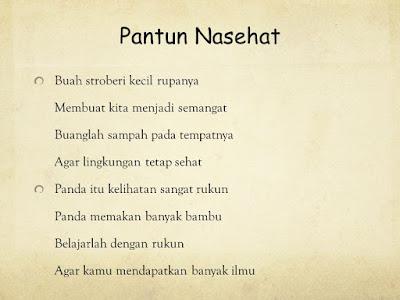 interioritats: Kumpulan Pantun Nasehat Terbaru di Indonesia