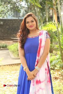 Actress Ashwini Stills in Blue Chudidar at Ameerpet Lo Release Press Meet  0188.JPG