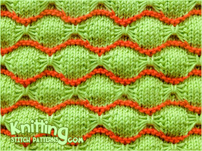 Wave and Butterfly Knitting. 2 color slip stitch pattern. Great knit pattern