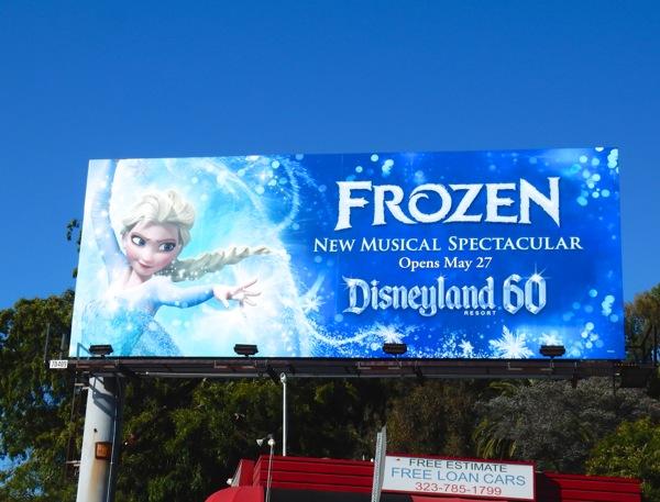 Frozen Musical Disneyland billboard