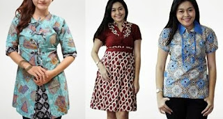 model baju batik atasan wanita gemuk remaja