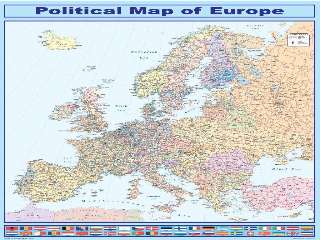laminated map of europe