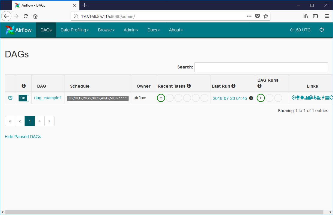 serverあれこれ: VagrantでApache AirflowとPostgreSQLを