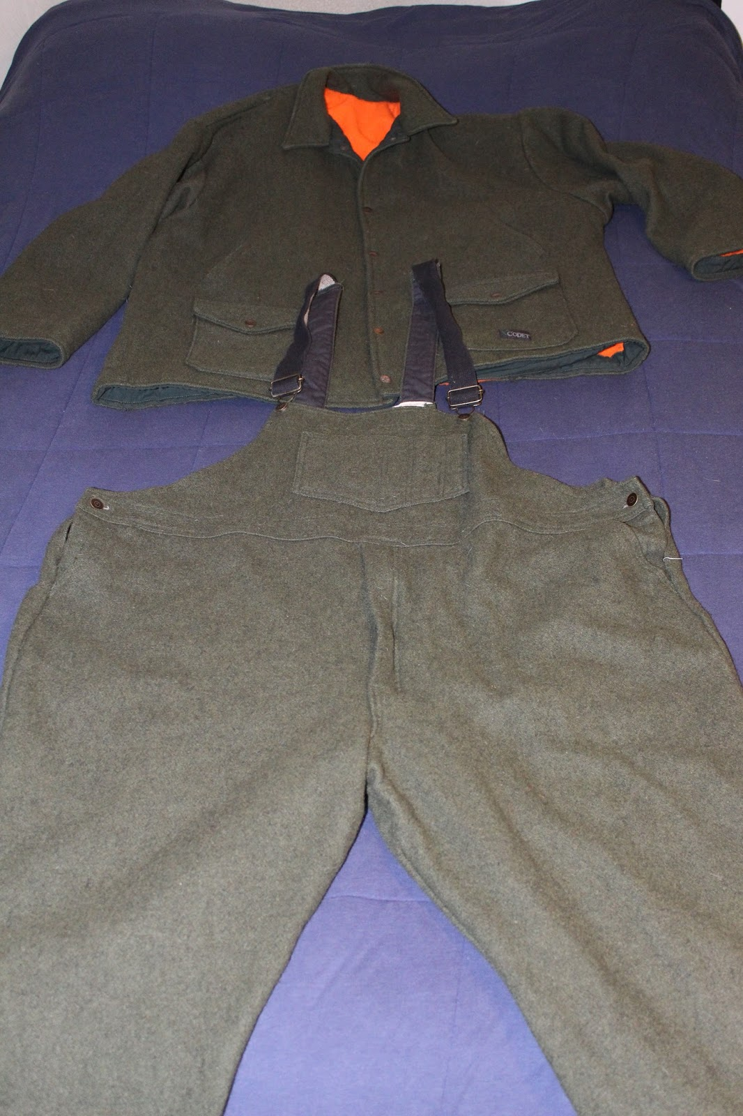 e3ecb5fd97cbc Codet Hunters Wool Coat and Bibs Size 3xl | Bushcraft USA Forums