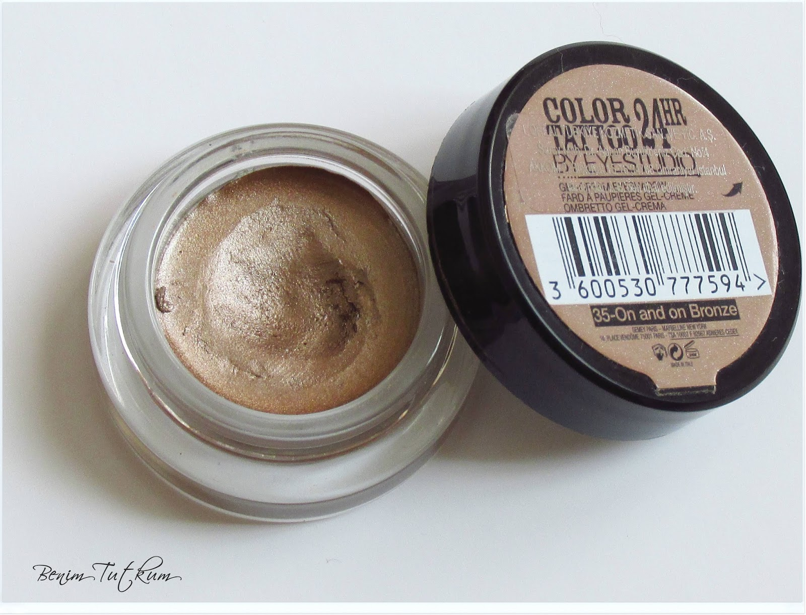 Maybelline Color Tattoo Krem Far : On and On Bronze