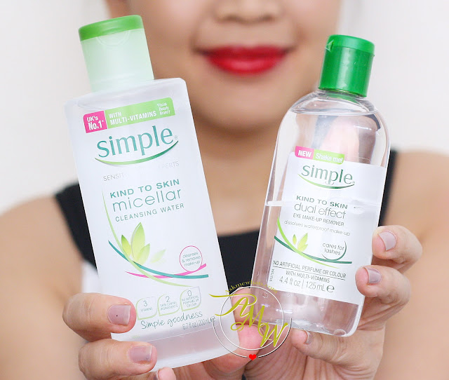 a photo of Simple micellar cleansing wipes review, Simple Micellar Cleansing Water and Dual Effect Eye Make-Up Remover