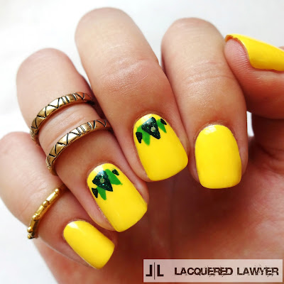 Pretty Pineapples Nails