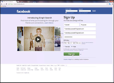 Creating Facebook Fan Page - Step 1