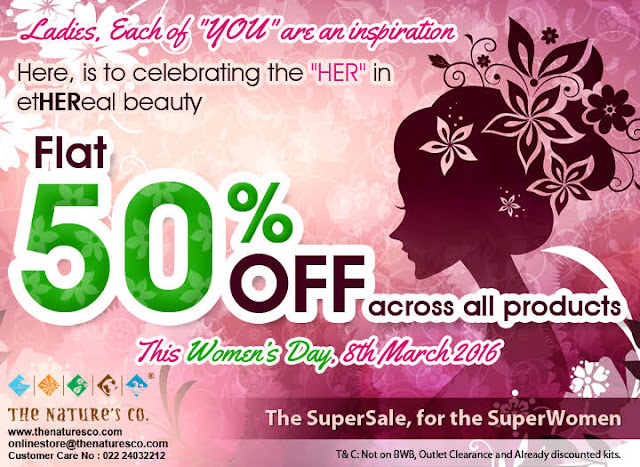 The Nature's Co. URGENT updates: Women's Day Special FLAT 50% OFF + Surprise Element in March BeautyBox Revealed