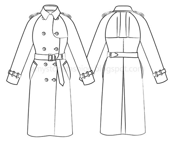 how to draw a trench coat anime