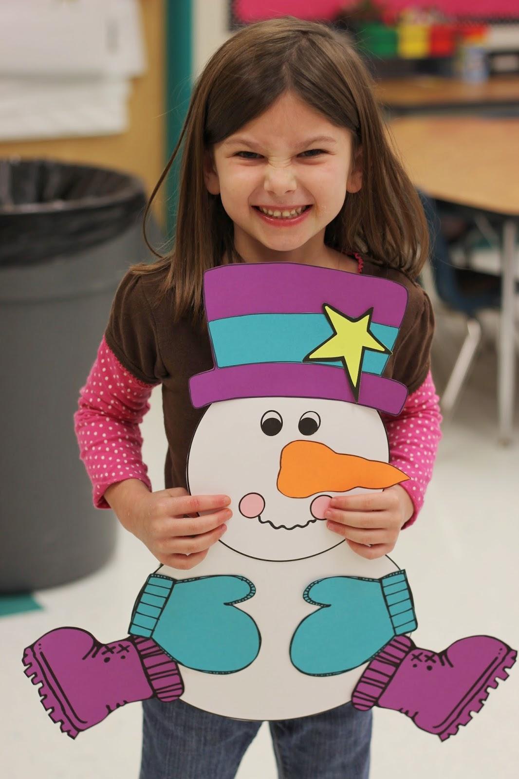 Kindergarten Smiles Snowman Craft