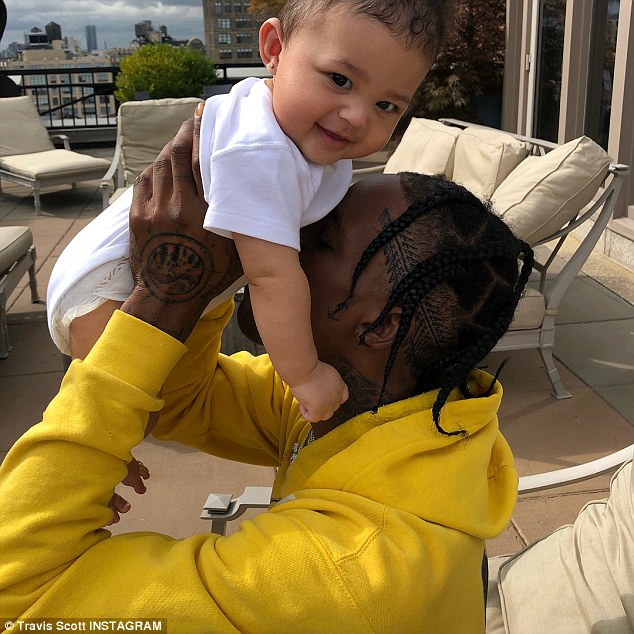 Adorable photos of Kylie Jenner and Travis Scott with their giggling daughter,Stormi