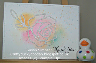 Stampin' Up! Susan Simpson Independent Stampin' Up! Demonstrator, Craftyduckydoodah!, Rose Wonder, Rose Garden Thinlets,